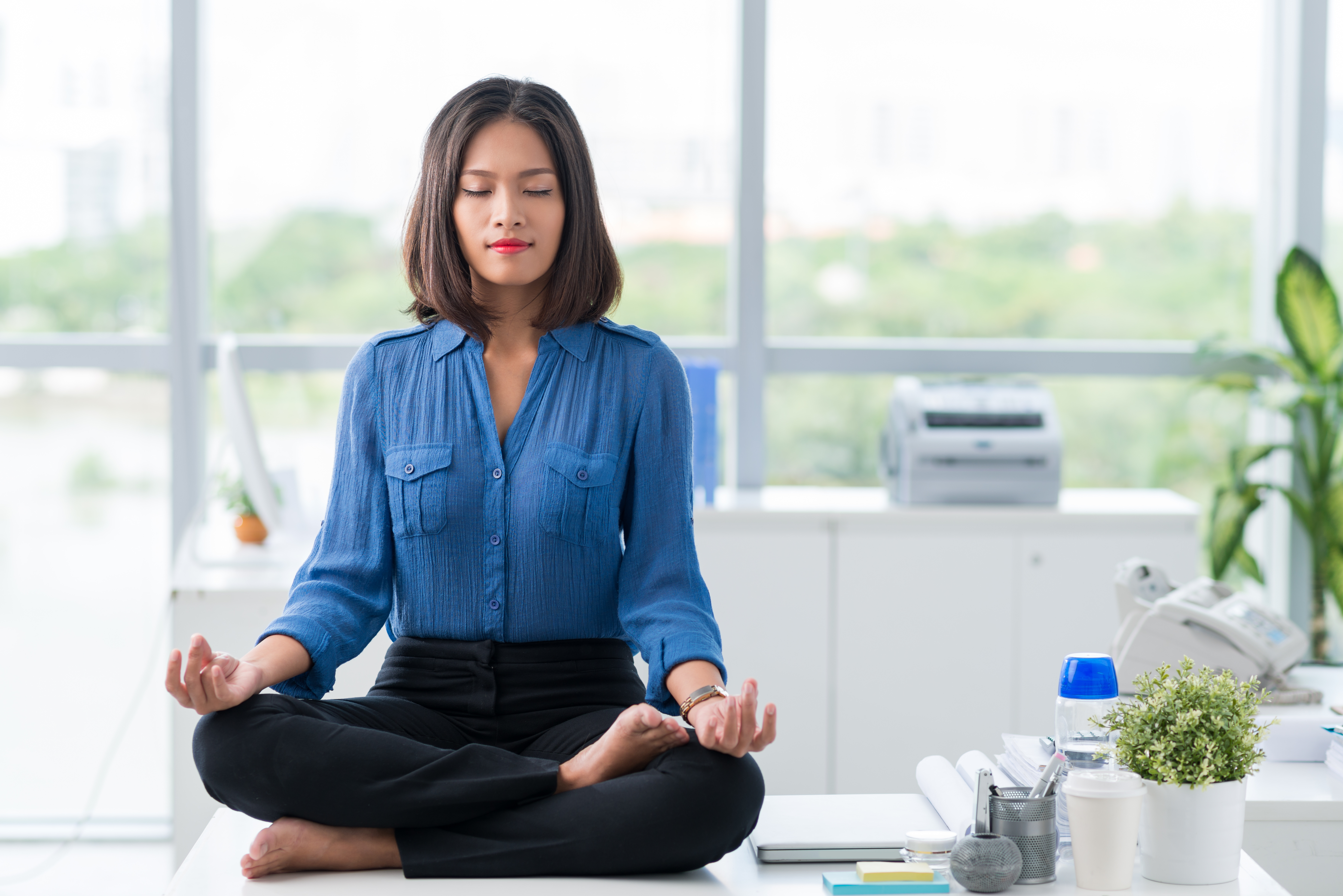 Easy Yoga Stretches to Do at Your Desk