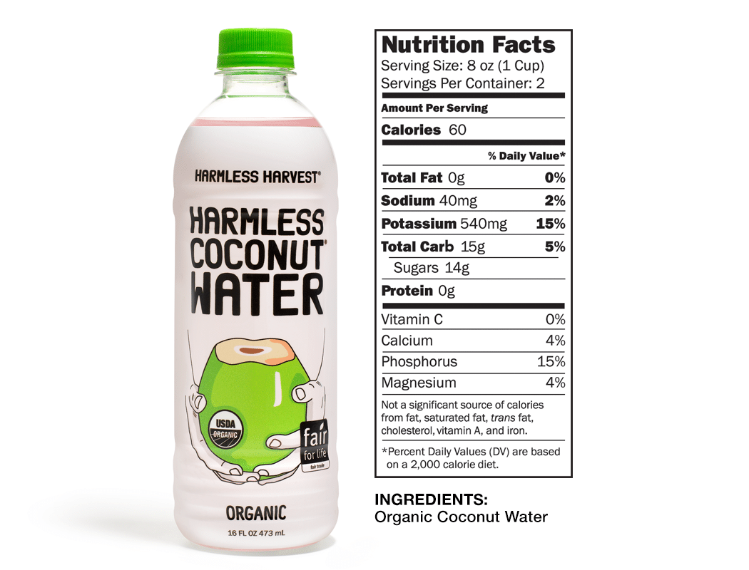 Harmless Harvest Coconut Water Nutritional Facts