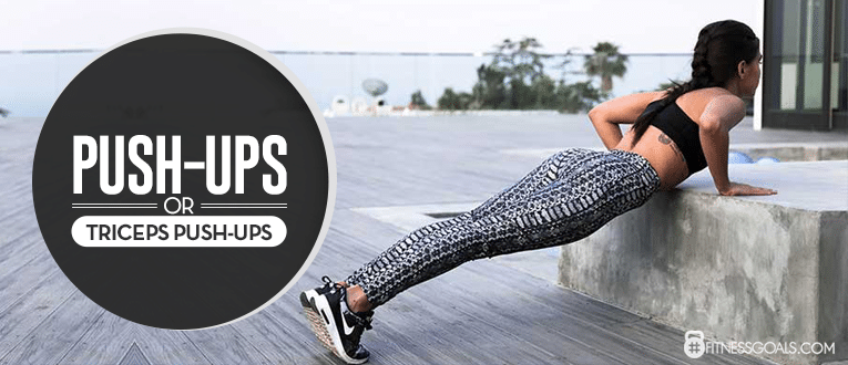 Push-Ups and or Triceps Push-Ups Arm Exercises for Women