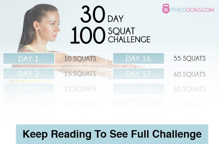 30 day squat challenge teaser graphic