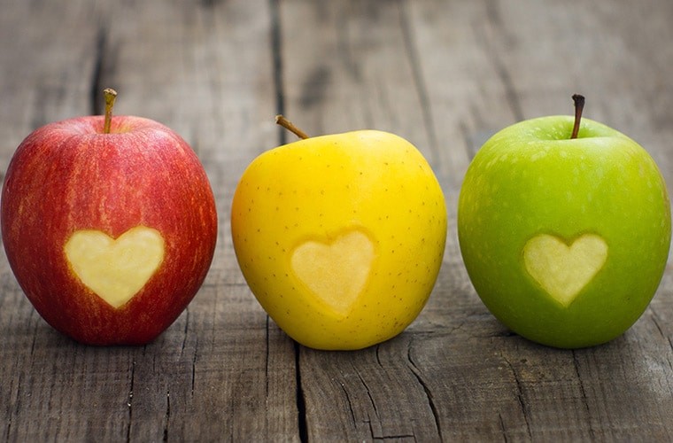apples heart healthy food