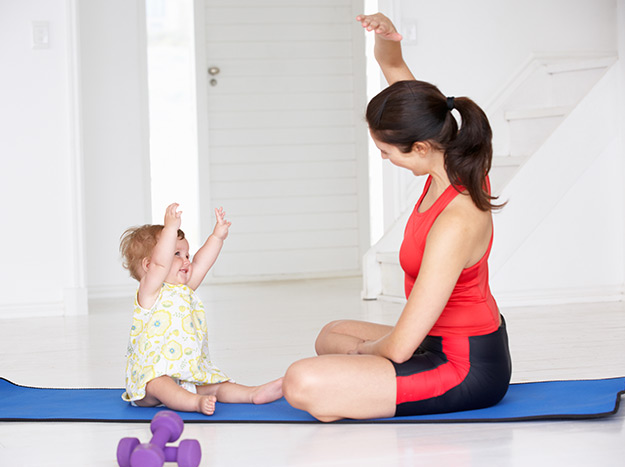 lose weight with baby
