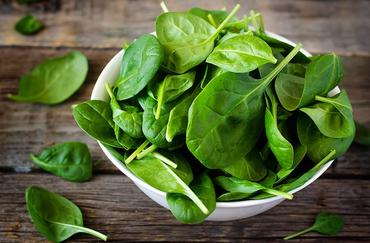 spinach heart healthy food