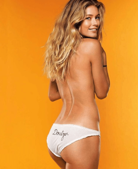 Doutzen Kroes beautiful Back of woman