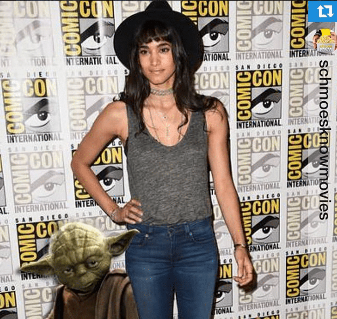 Sofia Boutella Toned Chest