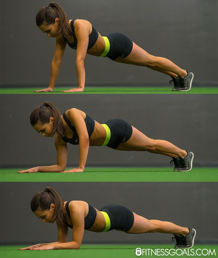 Arm March Plank