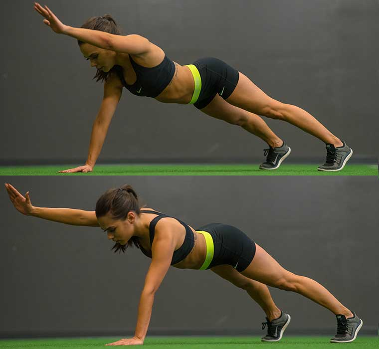 One-Arm Reach Plank