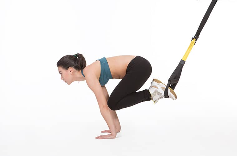TRX Core Workout Reverse Crunch