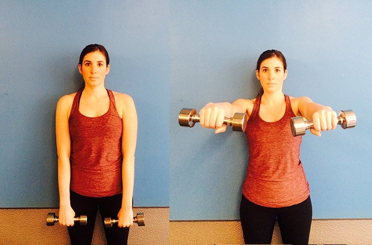 Dumbbell Front Shoulder Raises