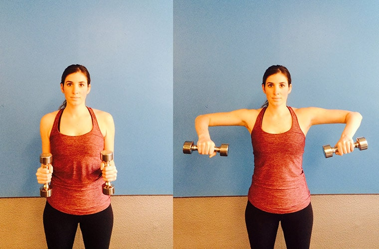Dumbbell Triceps Kickback into Lateral Shoulder Raise