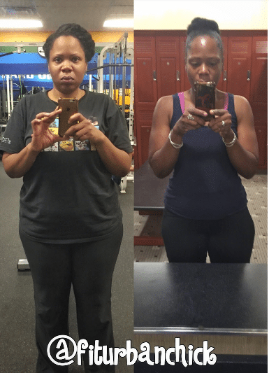 jenn before and after free weights