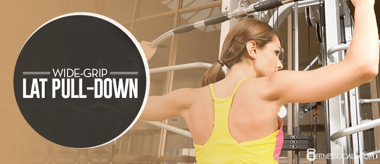Wide-Grip Lat Pull-down Upper Back Workouts
