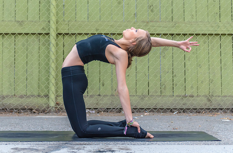 camel pose variation