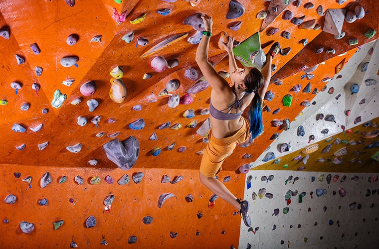 Female Rock Climbers