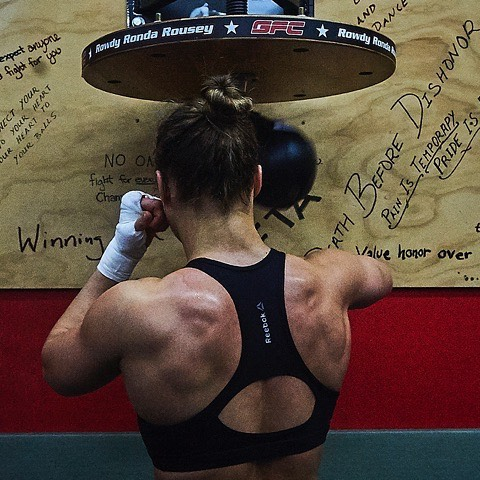 ronda rousey Middle Back Exercises