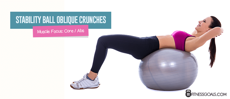 Stability Ball Oblique Crunches