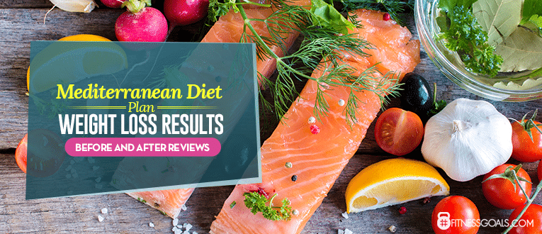 mediterranean diet weight loss before and after