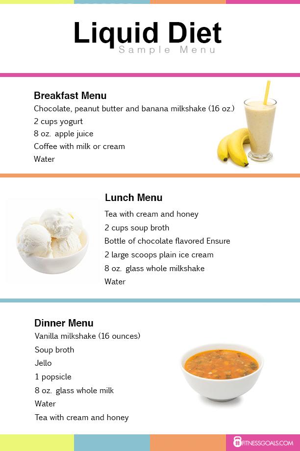 Liquid Diet Food Menu