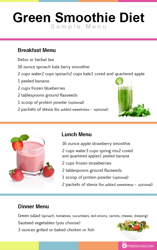 smoothie and salad diet plan